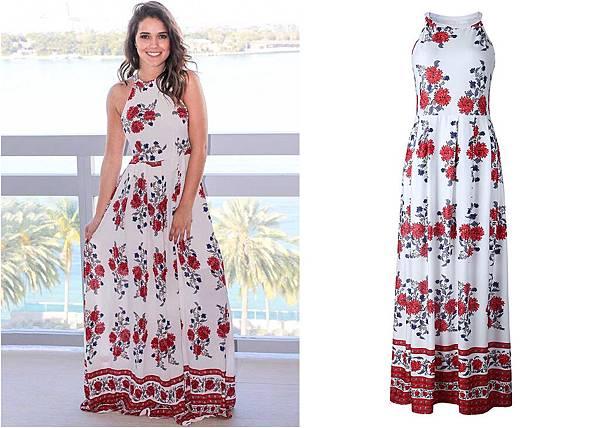8331Sleeveless Halter Floral Maxi Long Dress1.jpg