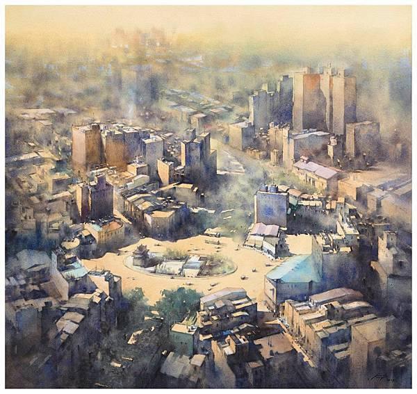 莊凱評 微光城市-9 56x56cm 2015