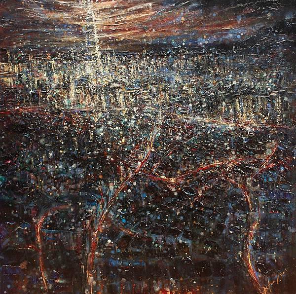 陳鎰森 繁華都市(台北101) Paint the City Red