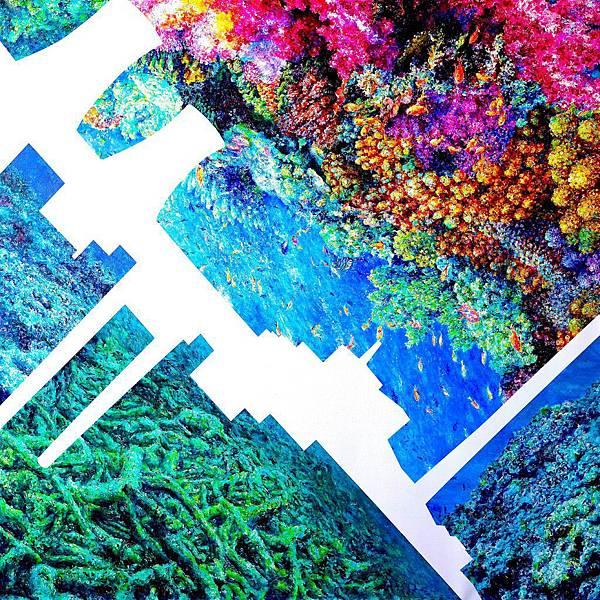 洪天宇 珊瑚輓歌 壓克力彩 畫布 169x169cm 2015