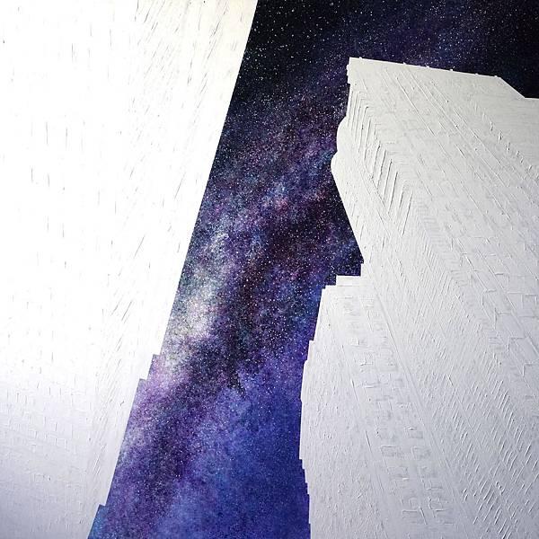 洪天宇 看不見的銀河 壓克力彩 畫布 174x174cm 2015