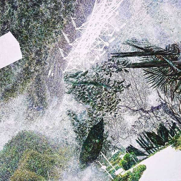 洪天宇 山居 壓克力彩 鋁板 122x122cm 2015