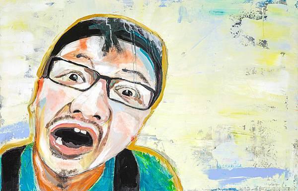 郭彥甫 瑋毅 油彩.壓克力.炭筆 畫布 126.5x81cm 2016
