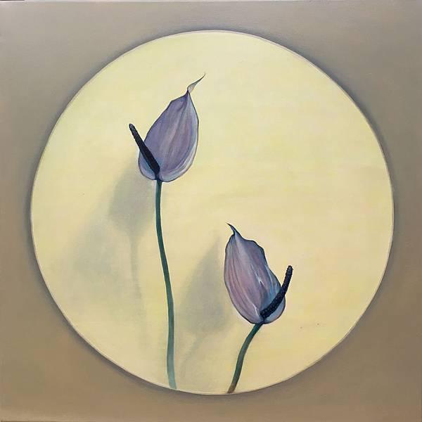 許旆誠 一首詩的時間Ⅱ  油彩.壓克力顏料  60x60cm  2016
