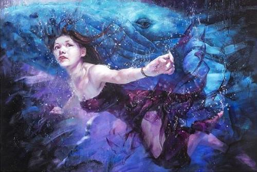 尤瑋毅 「游」戲人間-35 油彩 畫布 130 x194 cm (120 F) 2016