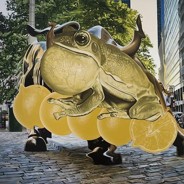 黃舜廷 有錢圖-蛙、五橘 Acrylic on canvas 150x150cm 2016.jpg