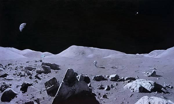 馬如龍 宙,無,寂。 油彩 畫布 112x162 cm 2016