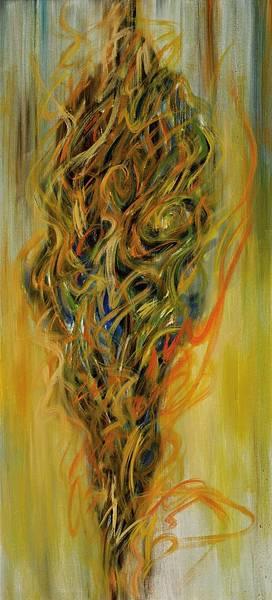 陳建大明 羅漢非羅漢-001 油彩 畫布 200x90cm 2011