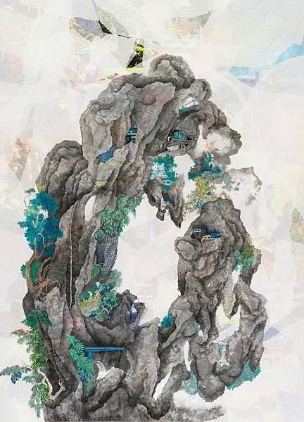 陳芷若 向陽的時候 複合媒材 紙本 松煙墨 傳統水墨顏料 水墨用紙110x79 cm 2016