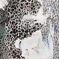 陳芷若 寧靜的山林 複合媒材 紙本 油煙墨 傳統水墨顏料 水墨用紙 91x60 cm 2017
