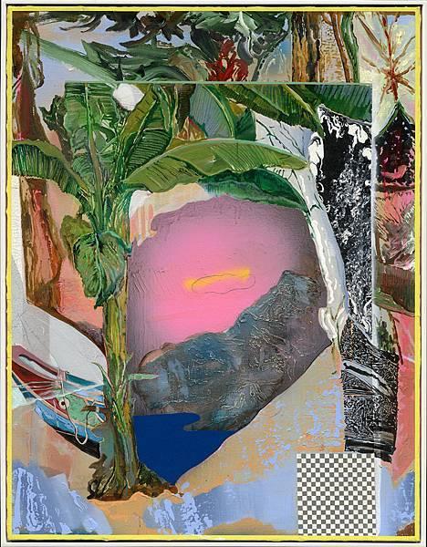 謝牧岐 芭蕉樹.觀音山.一朵雲   壓克力顏料.畫布 Acrylic on Canvas  116.5x91.0cm 2017.jpg