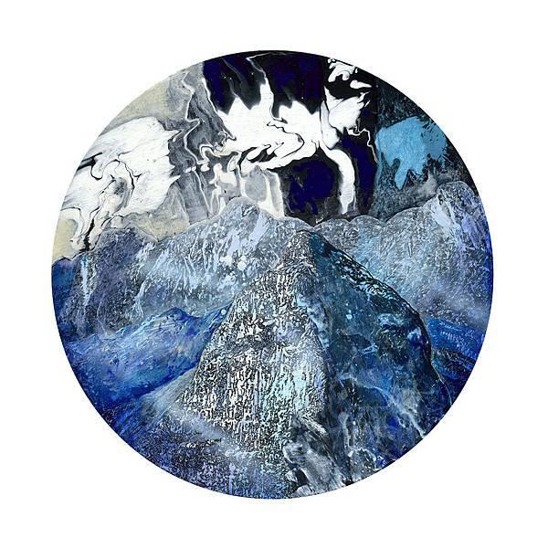謝牧岐 山脈寫生050 Mountains painting 050  壓克力顏料.畫布 Acrylic on Canvas  50.0x50.0cm 2018.jpg