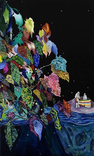 蜂島,油彩畫布,162x97cm,2015.jpg