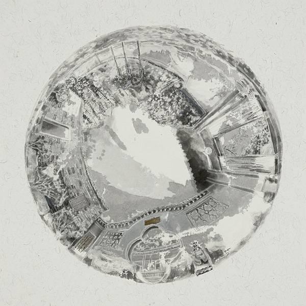 小檔 黃琬玲 松谷庵三,The Songgu Monastery(3),42x42cm,墨汁.宣紙.壓克力.膠.ink.xuan paper.acrylic.glue.2017.jpg