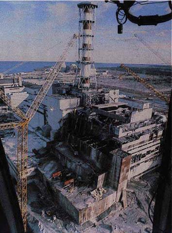 車諾比核災後的樣子。圖片來源:新聞資料照