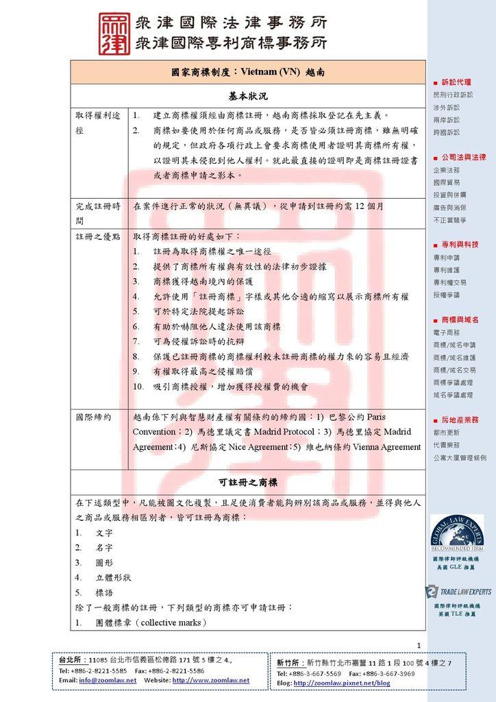 VN 越南 登記在先 ncv1-1