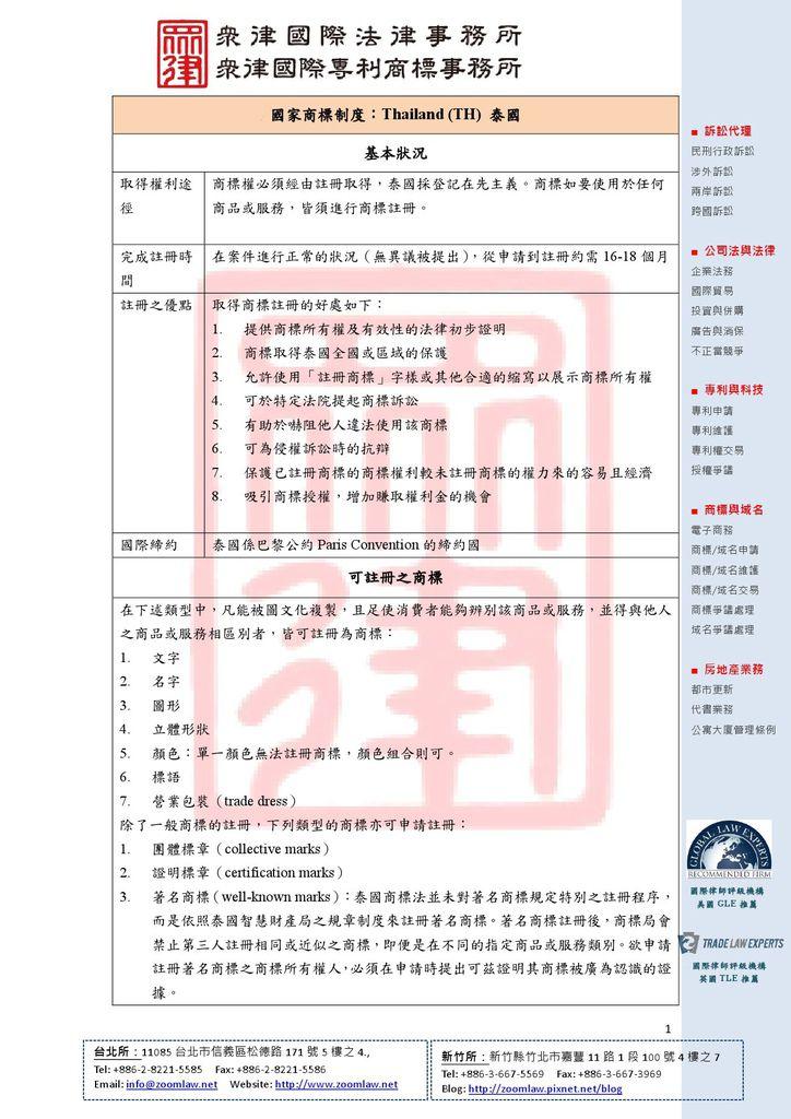 TH 泰國 登記在先 ncv1-1