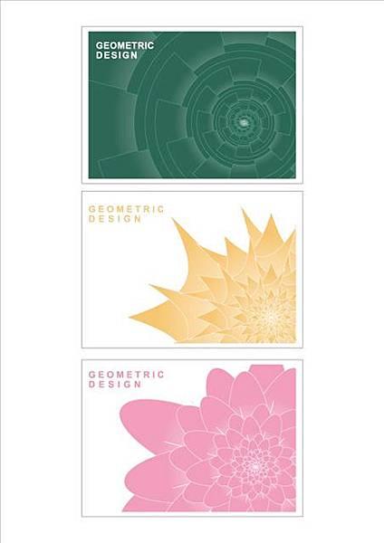 幾何花紋平面設計