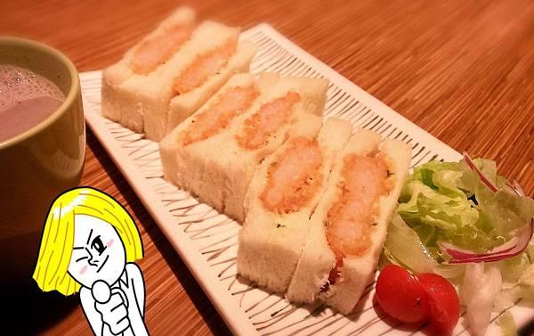 芝麻柚子酥炸鮮蝦排三明治