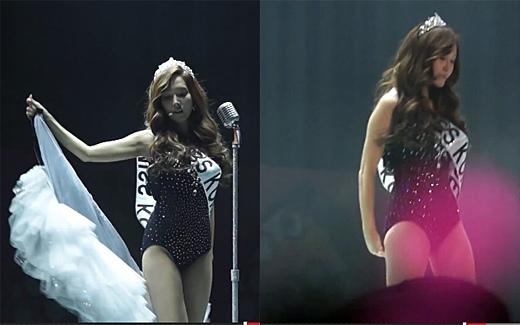 """少女時代Jessica舞台上脫裙子破格演出""""史上最暴露造型"""""""