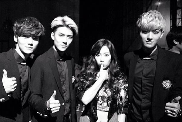 太妍:帥氣的 EXO 搭檔們