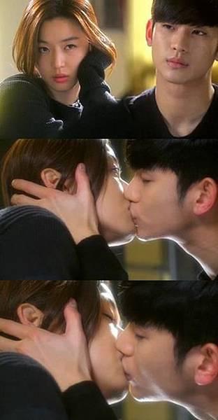 金秀賢全智賢吻戲助力「來自星星的你」穩守收視冠軍