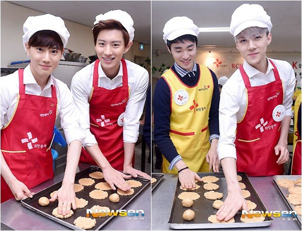 EXO-K 做愛心餅乾