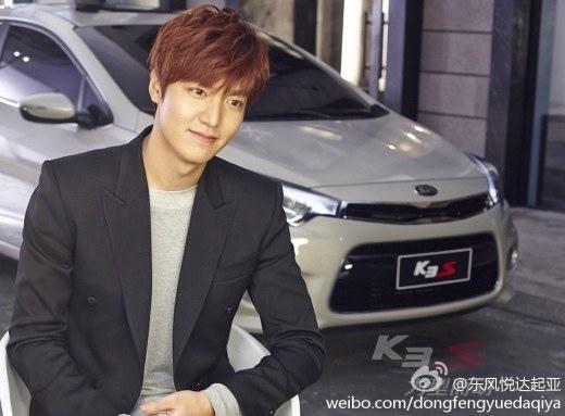 李敏鎬汽車廣告拍攝現場