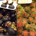 泰國當季特產水果:山竹和紅毛丹