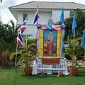 [08/25] 社區裡的皇后祝賀裝飾,主要以藍色及粉紅為主