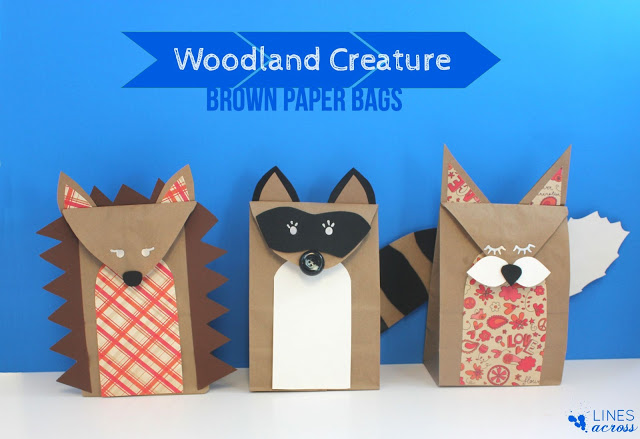 1 - woodland creature brown paper bags