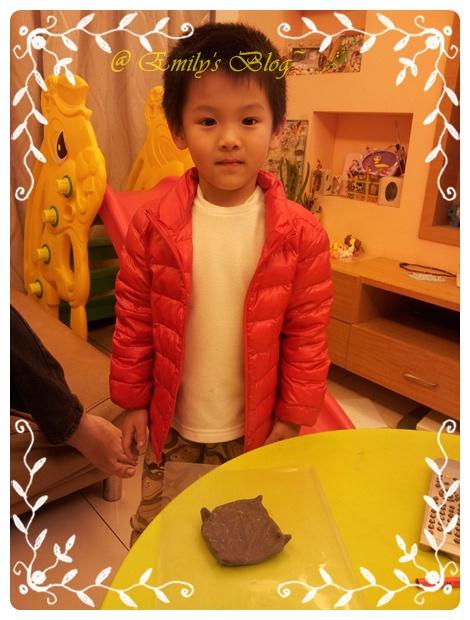 0129-自己回家馬上做了一個黏土盤子